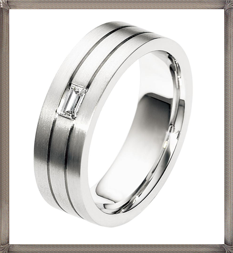 Dora-CodeXY-Collection-Mens-Wedding-Band-with-Baguette-Diamond-Accent 5 CRITICAL Tips You Should Keep in Mind When Buying Men's Silver Wedding Bands