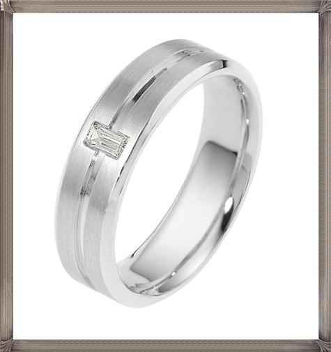 Dora-CodeXY-Collection-Striped-Mens-Wedding-Band 5 CRITICAL Tips You Should Keep in Mind When Buying Men's Silver Wedding Bands