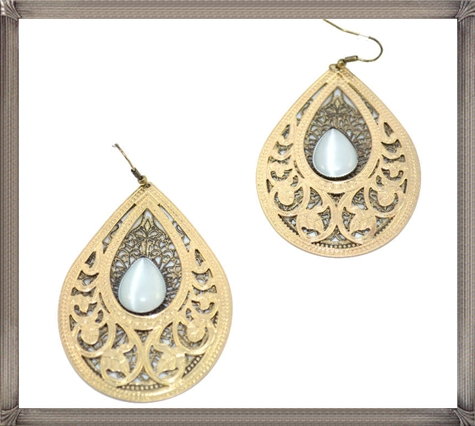 Dual-Layer-Lacequot-Gold-Mesh-Designer-Earring Latest Gold Earrings Designs 2019