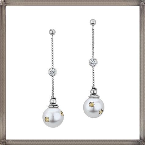 Ecksand-signature-fancy-yellow-diamond-settings-in-pearls-and-diamonds-white Latest Signature Diamond Earrings For Women