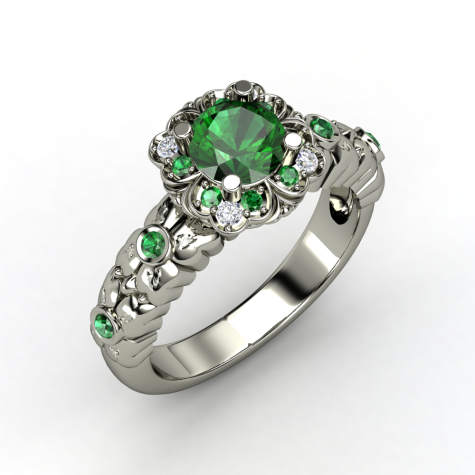 Emerald-Palladium-Ring-with-Diamond-for-women-475x475 How to Choose Wedding Rings for Bride and Groom with Most Popular Designs