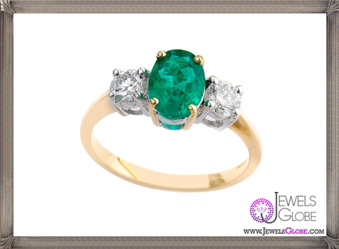 Emerald-and-Diamond-3-stone-ring 10 Hidden facts about Gemstones That You Must Know