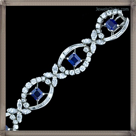 Era-Diamond-and-Sapphire-Bracelets Fancy Blue Diamond Bracelets (Hot Designs)