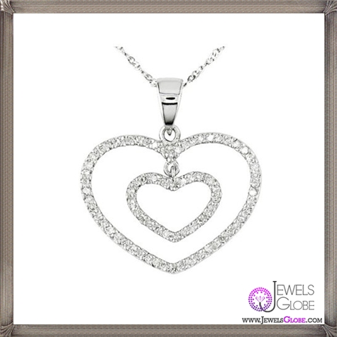 Excellent-Necless-White-Gold-Diamond-Heart-in-Heart-Pendant The 28 Best Diamond Heart Necklaces & Pendants For Women and Buying TIPS