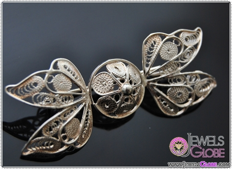 Fairy-bow-filigree-Handmade-silver-brooch Buying Sterling Silver Brooches and Pins Online