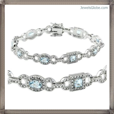 Fancy-Blue-Diamond-Bracelet-Design-for-Stylish-Women Fancy Blue Diamond Bracelets (Hot Designs)