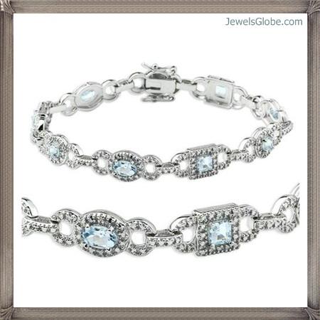 Fancy-Blue-Diamond-Bracelet-Design-for-Stylish-Women Fancy Blue Diamond Bracelets (Hot Designs)