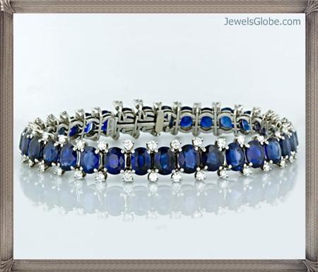 Fancy-Blue-Diamond-Bracelet-Stylish-Design Fancy Blue Diamond Bracelets (Hot Designs)