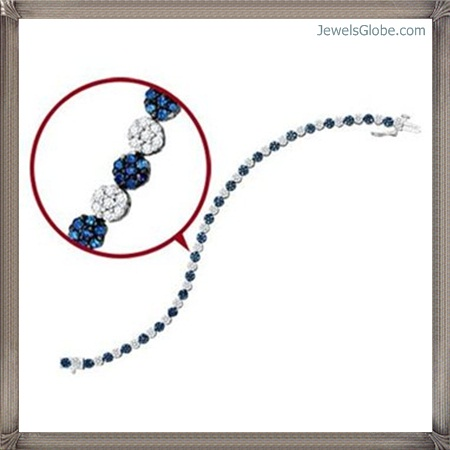 Fancy-Blue-Diamond-Bracelet-Women-Design Fancy Blue Diamond Bracelets (Hot Designs)