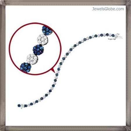 Fancy-Blue-Diamond-Bracelet-Women-Design Fancy Blue Diamond Bracelets (Hot Designs)