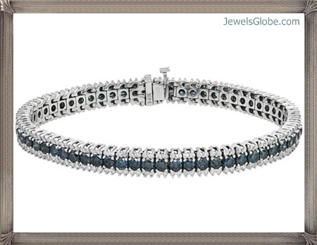 Fancy-Blue-Diamond-Bracelet-for-Women Fancy Blue Diamond Bracelets (Hot Designs)