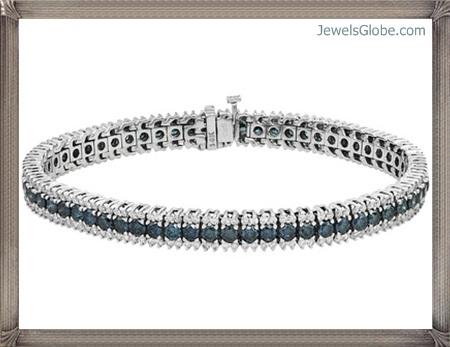 Fancy-Blue-Diamond-Bracelet-for-Women Fancy Blue Diamond Bracelets (Hot Designs)