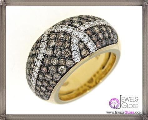 Fantasia-Ring.-Roberto-Coin-18k-Yellow-Gold-Cognac-Diamond 23 Best Roberto Coin Rings Designs