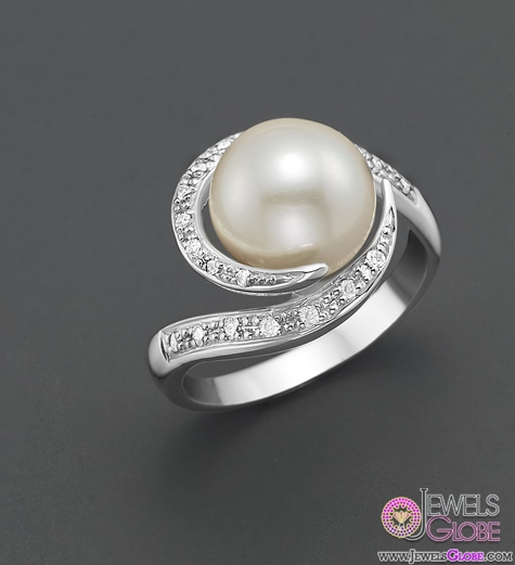 Freshwater-Pearl-Ring-with-Diamonds Top Pearl Rings For Sale