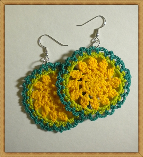Funky-Bohemian-Crochet-Earrings-Yellow-Green Best Ways to Choose Most Stylish Earrings