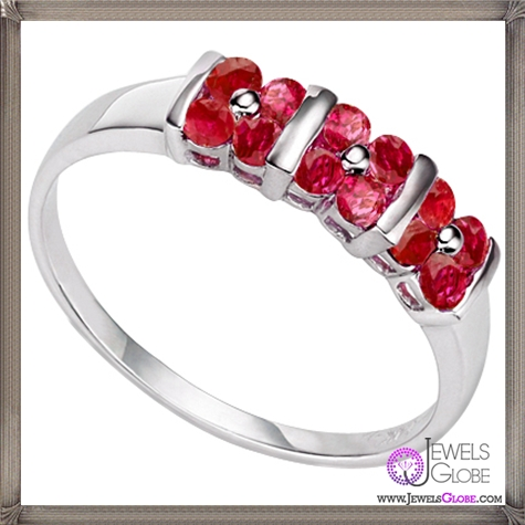 GENUINE-RUBY-0.925-STERLING-SILVER-PLATINUM-RING 32+ Most Elegant Genuine Ruby Rings For Women