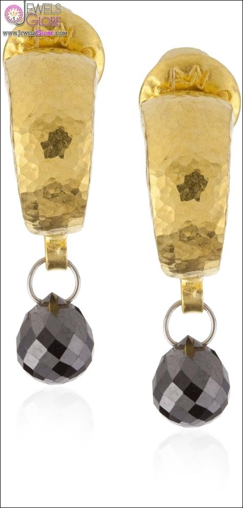 GURHAN-Dark-Mist-Single-Black-Diamond-Briolette-Hoop-Earrings Best Gurhan Jewelry Designs That Amaze Women
