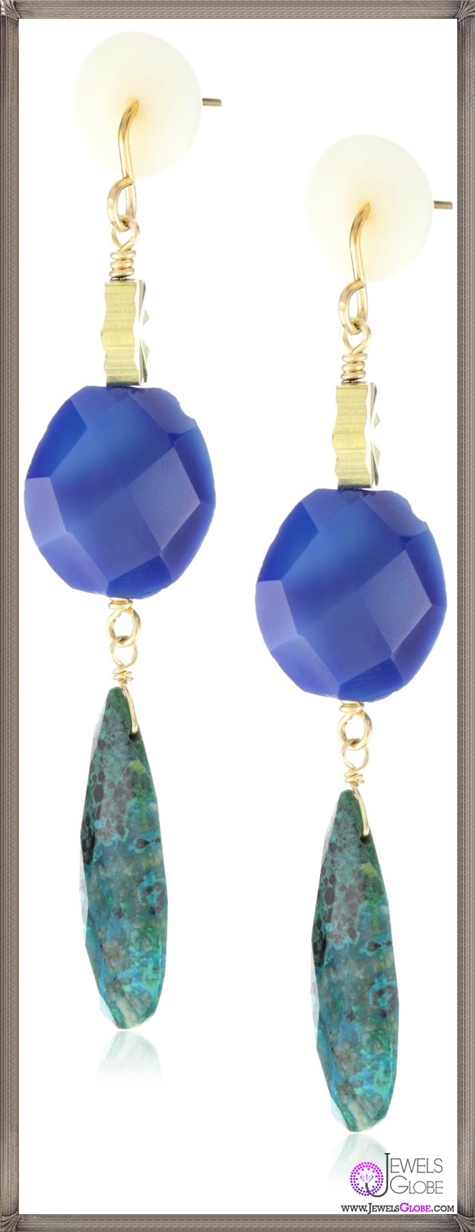 Gemma-Redux-Blue-Agate-and-Crysocolla-Lucette-Earrings Important Gemma Redux Jewelry Pieces to Look For