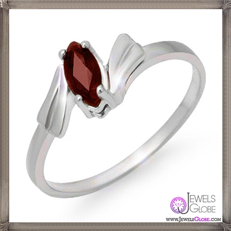 Genuine-0.32-ctw-Ladies-Ruby-Ring-10K-White-Gold 32+ Most Elegant Genuine Ruby Rings For Women