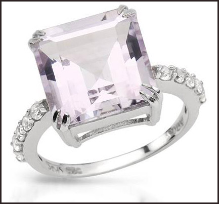 Genuine-Amethyst-and-Topazes-925-Sterling-silver-ring Hottest Sterling Silver Rings For Women