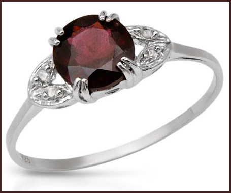 Genuine-Diamonds-and-Rhodolite-Garnet-Designed-in-925-Sterling-silver-ring Hottest Sterling Silver Rings For Women