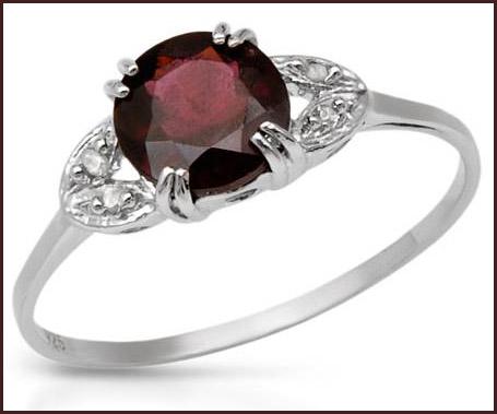 Genuine-Diamonds-and-Rhodolite-Garnet-Designed-in-925-Sterling-silver-ring Hottest Sterling Silver Rings For Women