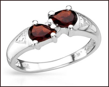 Genuine-Garnets-Well-Made-in-925-Sterling-silver-ring Hottest Sterling Silver Rings For Women