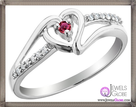 Genuine-Ruby-14k-Gold-Flower-Promise-Ring 32+ Most Elegant Genuine Ruby Rings For Women