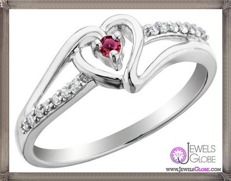Genuine-Ruby-14k-Gold-Flower-Promise-Ring 32+ Most Elegant Genuine Ruby Rings For Women