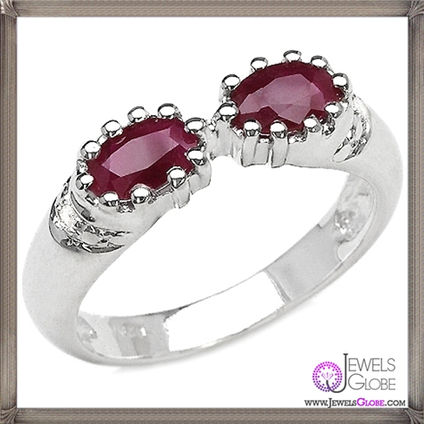 Genuine-Ruby-Diamond-Jewellery-Ruby-Ring 32+ Most Elegant Genuine Ruby Rings For Women