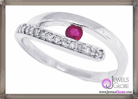 Genuine-Ruby-Diamond-Right-Hand-Ring-in-14Kt-White-Gold 32+ Most Elegant Genuine Ruby Rings For Women
