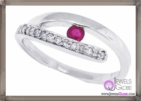 Genuine-Ruby-Diamond-Right-Hand-Ring-in-14Kt-White-Gold 32+ Most Elegant Genuine Ruby Rings For Women