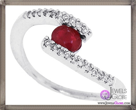 Genuine-Ruby-and-Diamond-Ring-in-14Kt-White-Gold 32+ Most Elegant Genuine Ruby Rings For Women