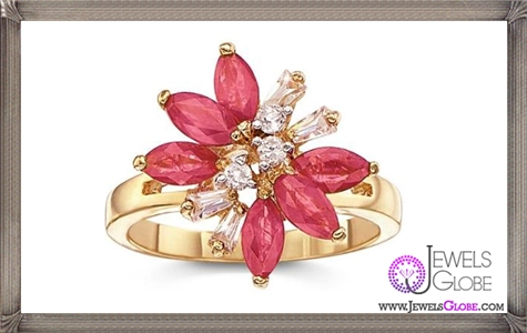 Genuine-Ruby-with-CZ-Accents-Ring 32+ Most Elegant Genuine Ruby Rings For Women