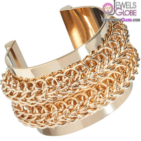 Givenchy-Gold-Metal-Chain-Cuff-Bracelet 35 Hot Cuff Bracelets For Women