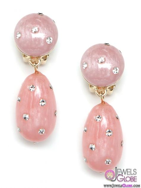 Glitz-Pink-Gemstone-Drop-Earrings The 43 Hottest Gemstone Drop And Stud Earrings Designs for Women