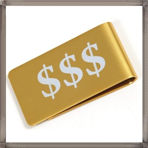 Gold-Aluminum-Money-Clip-Personalized-By-Laser-Engraving The 25 Most Popular Gold Money Clip Designs