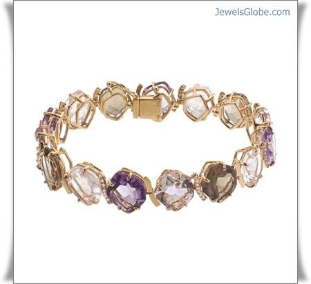 Gold-Gemstone-Bracelets-for-Stylish-Women-with-Great-Design 18 Best Gold Gemstone Bracelets Designs