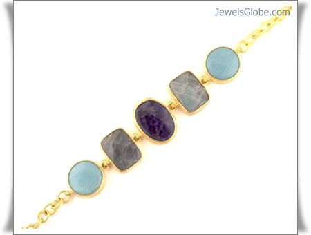 Gold-Gemstone-Jewellery-Women-Design-of-all-Stones 18 Best Gold Gemstone Bracelets Designs