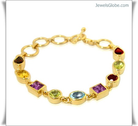Gold-Gemstone-Jewellery 18 Best Gold Gemstone Bracelets Designs