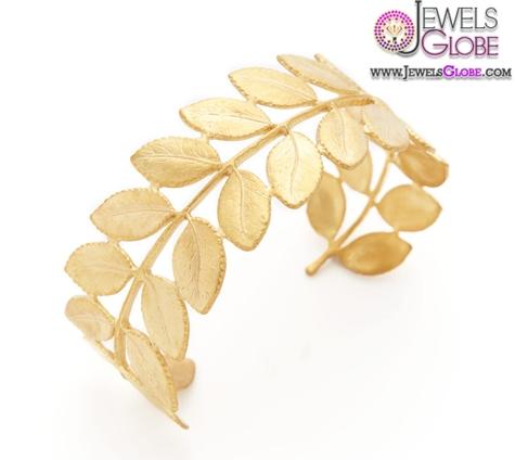 Gold-Leaf-Cuff-Bracelet-For-Women 35 Hot Cuff Bracelets For Women