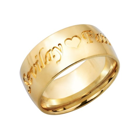 Gold-Plated-Sterling-Silver-Name-Ring-475x475 How to Choose Wedding Rings for Bride and Groom with Most Popular Designs