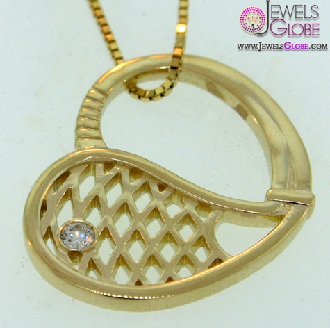 Gold-Tennis-Racket-Pendant The 29 Most Popular Gold Pendant Designs For Women