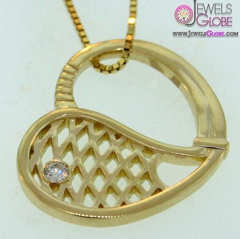 Gold-Tennis-Racket-Pendant The 29 Most Popular Gold Pendant Designs For Women