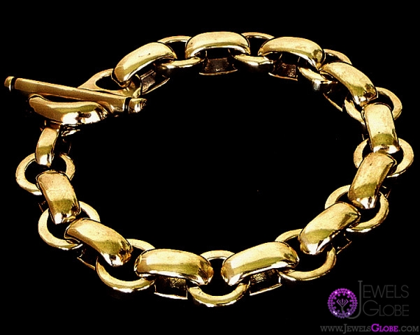 Gold-Women-Chain-Link-Bracelet 18 Hot Gold Link Bracelets Designs