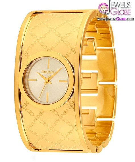 Gold-Womens-Logo-Cuff-Watch The Best DKNY Watches For Women