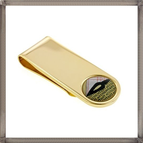 Gold-plated-money-clip-with-Accountant-symbol-with-presentation-box The 25 Most Popular Gold Money Clip Designs