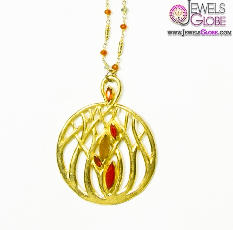 Gold-vermeil-pendant-with-gold-chian The 29 Most Popular Gold Pendant Designs For Women