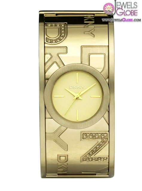 Golden-DKNY-Ladies-Bangle-Watch The Best DKNY Watches For Women