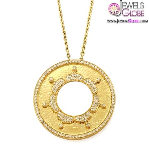 Golden-Light-Sun-Diamond-and-Gold-Pendant The 29 Most Popular Gold Pendant Designs For Women